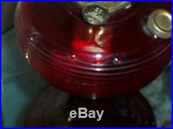 Antique Aladdin NUMBER 23 RUBY RED CIRCLE BOTTOM KEROSENE