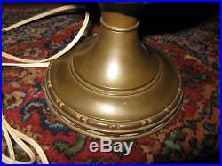 Antique Aladdin No 8 BrassTable Lamp No 401 White Satin Shade Electrified