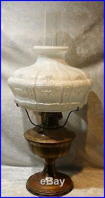 Antique Aladdin No 8 Kerosene Lamp withChimney & Shade