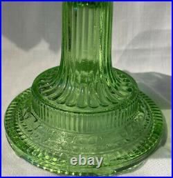 Antique Aladdin Nu-Type Model B Green Glass Colonial Oil Kerosene Lamp