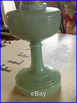 Antique Aladdin Nu-Type Model B Jade-ite Kerosene Lamp, Very Nice