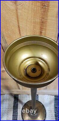 Antique Aladdin Oil Kerosene Floor Lamp Model B Burner Cast Brass Base/Shade