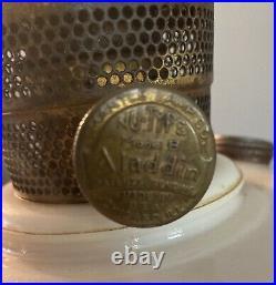 Antique Aladdin Oil Lamp Kerosene Lincoln Drape Pale PINK