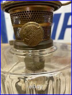 Antique Aladdin Oil Lamp Model B with Chimney Lighting Kerosene Collect works
