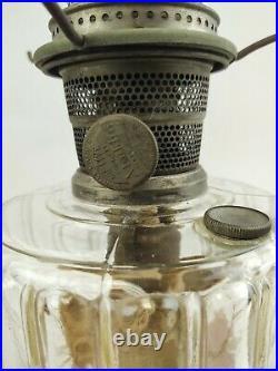 Antique Aladdin Oil Lamp Model B with Chimney Lighting Kerosene Off Grid works