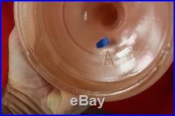 Antique Aladdin Pink Rose Kerosene Oil Lamp