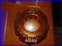 Antique Aladdin Washington Drape Amber Oil Lamp withShade Nu-type Burner