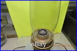 Antique Aladdin White Corinthian Moonstone Alacite Kerosene Lamp Model 23 Burner