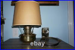 Antique BRASS ALADDIN B-400 MODEL B Original RAILROAD CABOOSE LAMP
