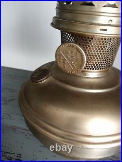Antique Brass Aladdin-The Mantlelamp Co. Of Amer, Inc. #11 Kerosene Lamp