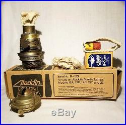 Antique Brass New Juno #2 Oil Lamp & Aladdin Kerosene Lamp Wicks Spider Harps