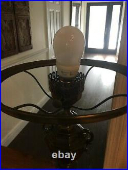 Antique Converted Aladdin Kerosene oil lamp electric PERFECT CONDITION