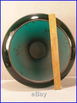 Antique EAPG Aladdin DOME Green Cased Glass Student Desk Oil Kerosene Lamp Shade