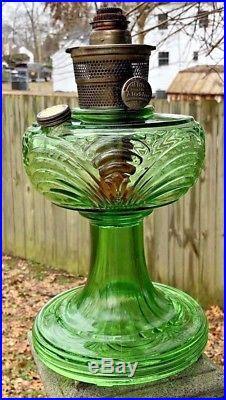 Antique Green Drape Aladdin Kerosene Lamp The Nu-Type Model B, NR