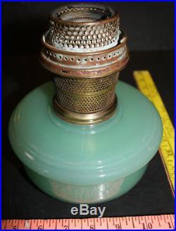 Antique Green Moonstone Aladdin Lamp Jadeite Bracket Hanging Font B- Burner