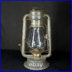 Antique HURWOOD ALADDIN Oil Kerosene SIDE LIFT LAMP Lantern Clear Globe