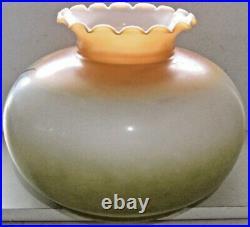 Antique Hand Painted Roses Oil Kerosene Lamp Shade Glass Aladdin Coleman