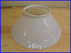 Antique Industrial Milk Glass Aladdin Kerosene Oil Hanging Lamp 14 Fitter Shade