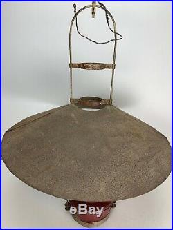 Antique Kerosene Oil Aladdin Hanging Barn Lamp with Metal Shade