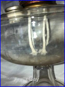 Antique Mantel Co Aladdin Nu-Type Model A Clear Venetian Lamp Lox-On & Chimney