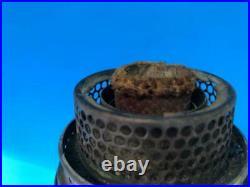 Antique Pinkish Cream Lincoln Drape Tall Aladdin Oil Kerosene Lamp with B Burner