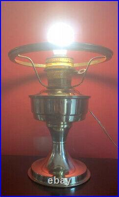 Antique VTG Converted Aladdin Kerosene oil lamp electric Hurricane GWTW Lamp