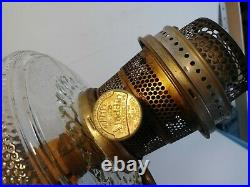 Antique/Vintage Aladdin Clear Colonial/Hobnail Oil Lamp 1930's WithChimney NuTypeB