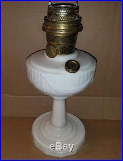 Antique Vintage Aladdin Model B Lincoln Drape Oil Kero Lamp Cream
