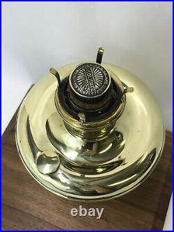 Antique Vtg Brass Colonial Oil Lamp Kerosene Parlor Mantle Lantern Aladdin P&A