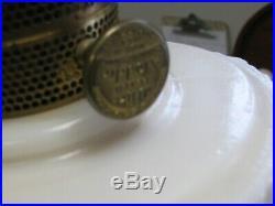 Antique White Lincoln Drape Aladdin Kerosene Lamp