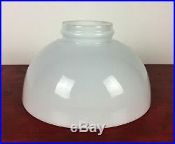 Antique White Opaline Glass LAMP SHADE For Kero / Oil Lamps, Aladdin 23 etc