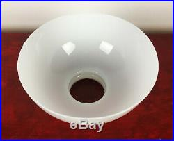 Antique White Opaline Glass LAMP SHADE For Kero / Oil Lamps, Aladdin 23 etc