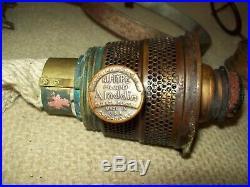 Antique aladdin brass Caboose Railroad wall Kerosene oil lamp stamped CPR
