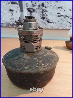 Antique kerosene lamp aladdin brass