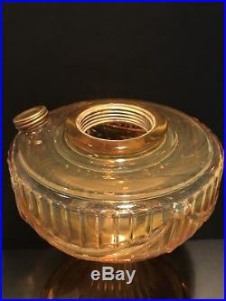 B-61-O Amber Opalique Short Lincoln Drape Aladdin Mantle Oil Kerosene Lamp