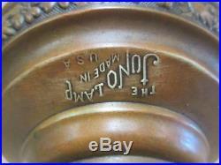 Banquet lamp font, Juno lamp, oil kerosene, Aladdin 12 burner, antique