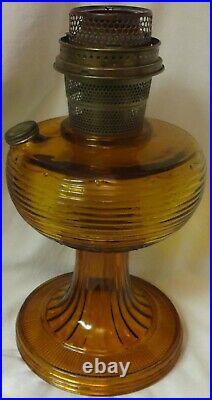 Beehive Dark Amber Kerosene Lamp Aladdin Mantle Lamp Company