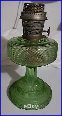 C1933 ALADDIN model #105 Green COLONIAL Kerosene Oil Lamp Burner