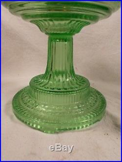 C1933 ALADDIN model #105 Green COLONIAL Kerosene Oil Lamp Burner Chimney
