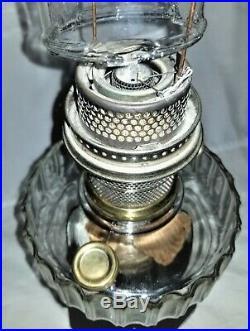 C1935-36 Aladdin kerosene LAMP, Corinthian, B104, ebony base, B- burner, 8.75