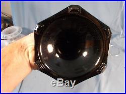 C1935 ALADDIN B-124 White & Black Corinthian Kerosene Oil Lamp wBurner & Chimney