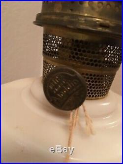 C1940 ALADDIN B-75 ALACITE Tall Lincoln Drape Kerosene Oil Lamp w Chimney WithTag