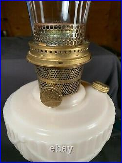 C1940 ALADDIN B-75 ALACITE Tall Lincoln Drape Kerosene Oil Lamp wChimney
