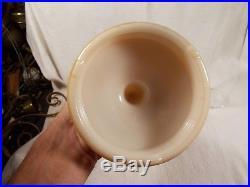 C1948 ALADDIN B-27 Alacite Simplicity GOLD LUSTRE Kerosene Oil Lamp & Chimney