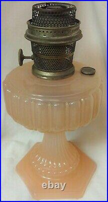 Cathedral Pink Moonstone Oil Lamp Aladdin Mantle Lamp Company