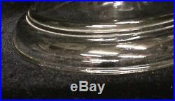 Clear 1 Piece Venetian Aladdin Kerosene Table Oil Lamp 1932-33