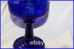 Cobalt blue Aladdin lamp Model B brass burner Lincoln Drape absolutely stunning