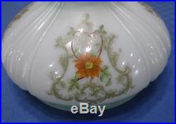 Coleman 10 Lamp Shade 324 Green Hand Painted Vtg Antique Aladdin Kerosene