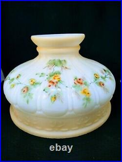 Coleman 329 Kerosene Oil Lamp Shade Hand Painted Roses Aladdin