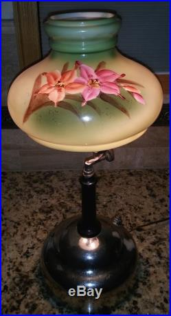 Coleman and Aladdin and Akron Kreme-lite Oil Kerosene (Lamp Shade). Nice